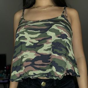 Forever 21 Flowy Camo Tank Top